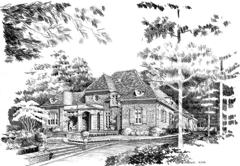 Camden Country Manor House Spitzmiller Amp Norris House Plans