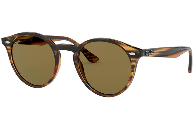 Ray Ban 0RB2180 Brown Classics Striped Red Havana
