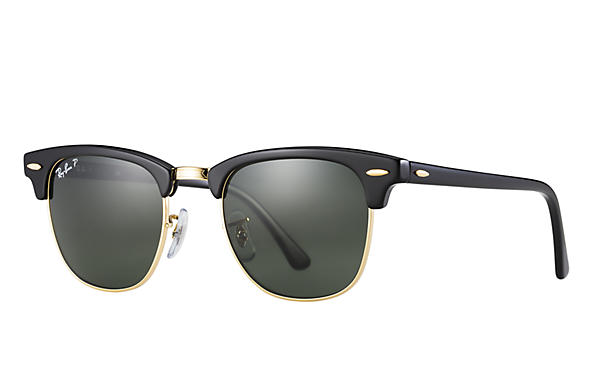 Ray Ban 0RB3016 CLub Master Classic Black with Polarized Green Classic