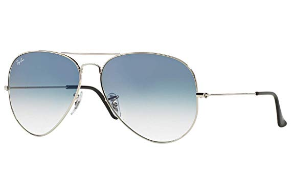Ray Ban 0RB3025 Aviator Silver With Light Grey Gradient