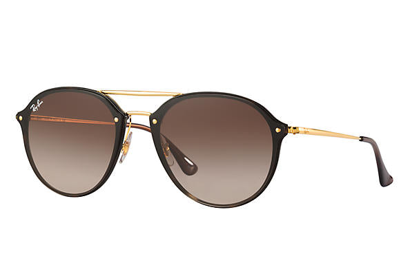 Ray Ban 0RB4292N Blaze Bouble Bridge, Tortoise, Gold with Brown Gradien