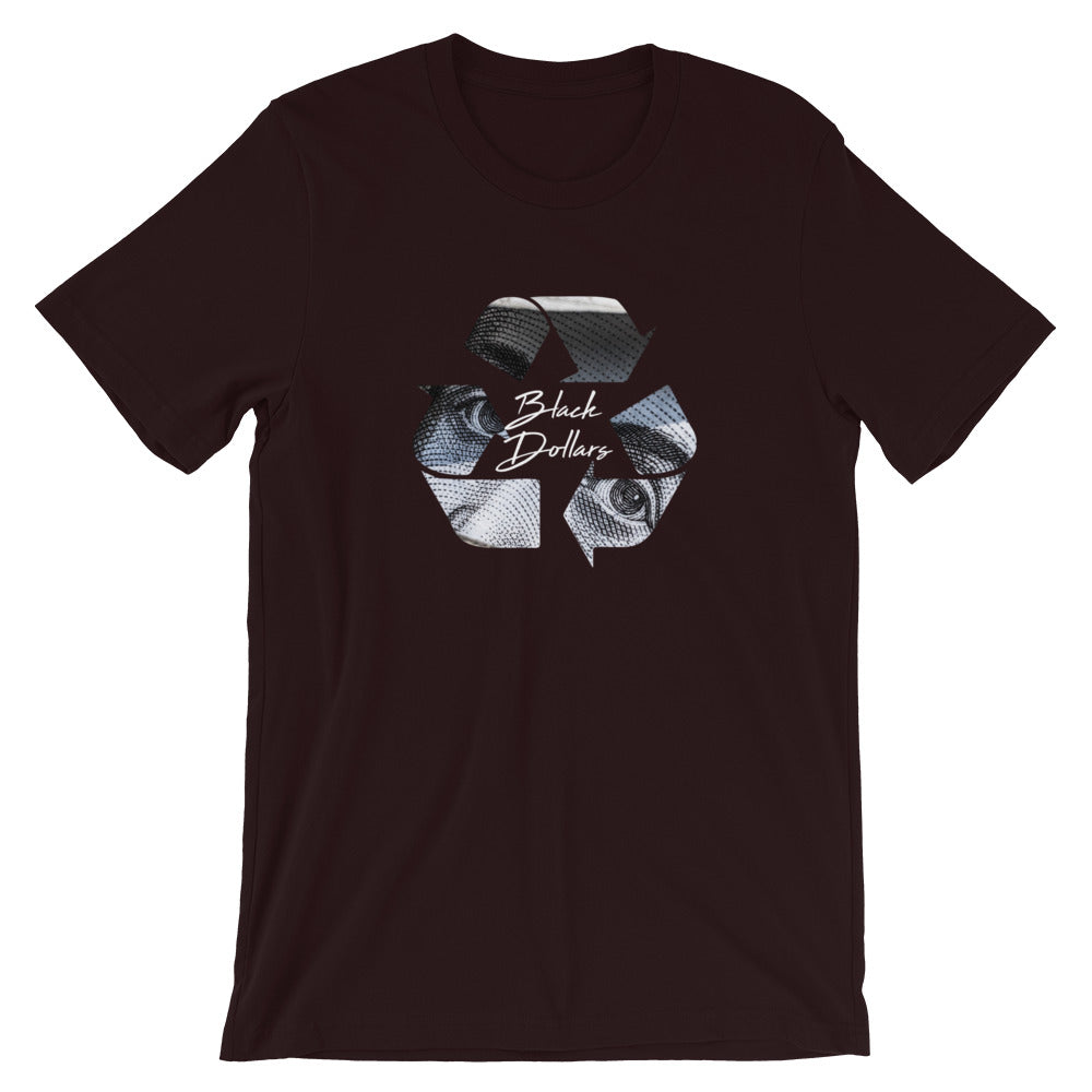 Recycle Black dollars Unisex T-Shirt