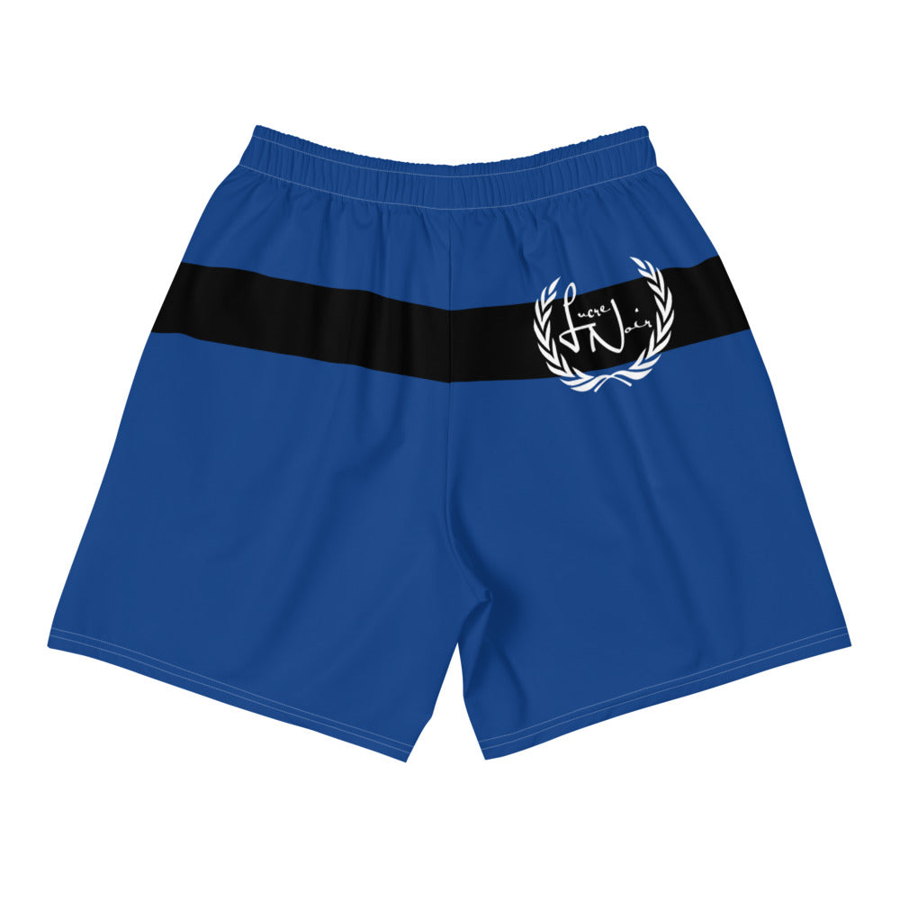 Men's Noir Blue Athletic Shorts