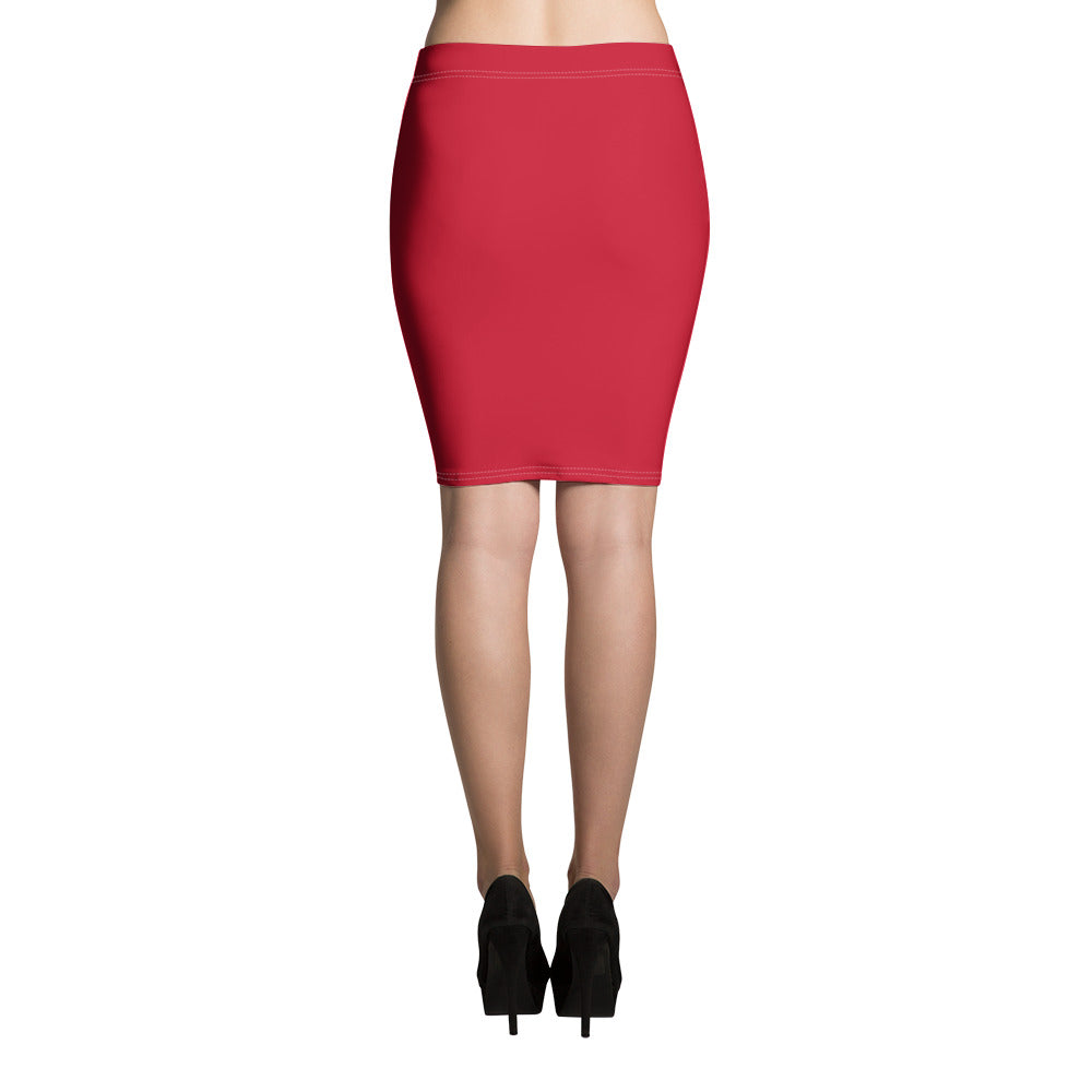 Rouge Pencil Skirt