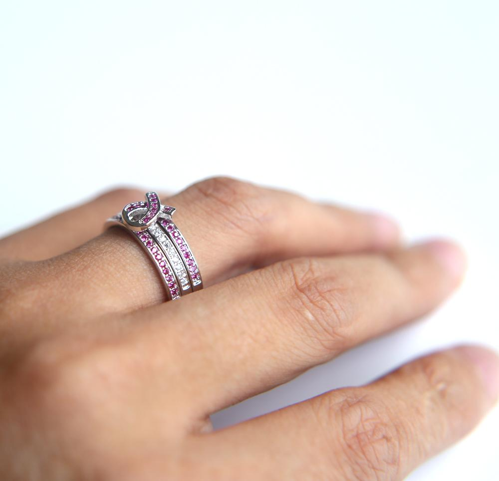 Breast Cancer Awareness Ribbon Ring