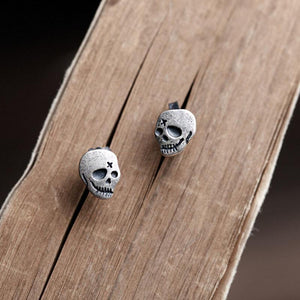 Ghost Skull Stud Earrings