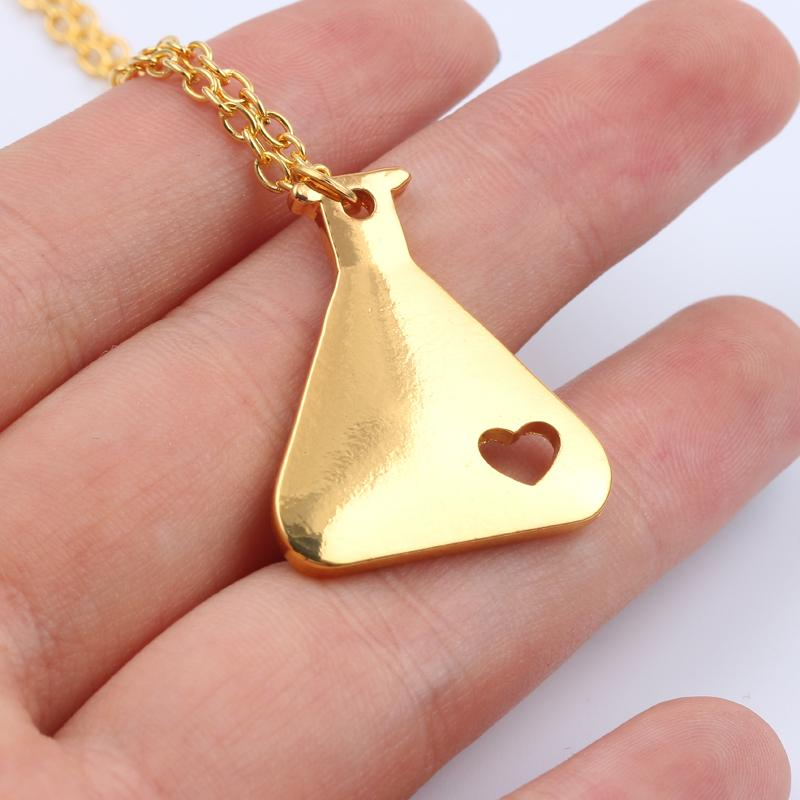 Love Science Erlenmeyer Necklace