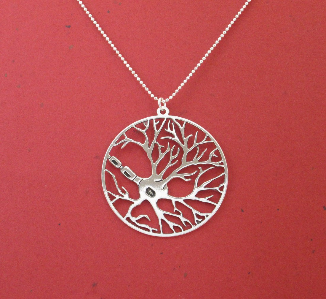 Neuron In a Circle Necklace