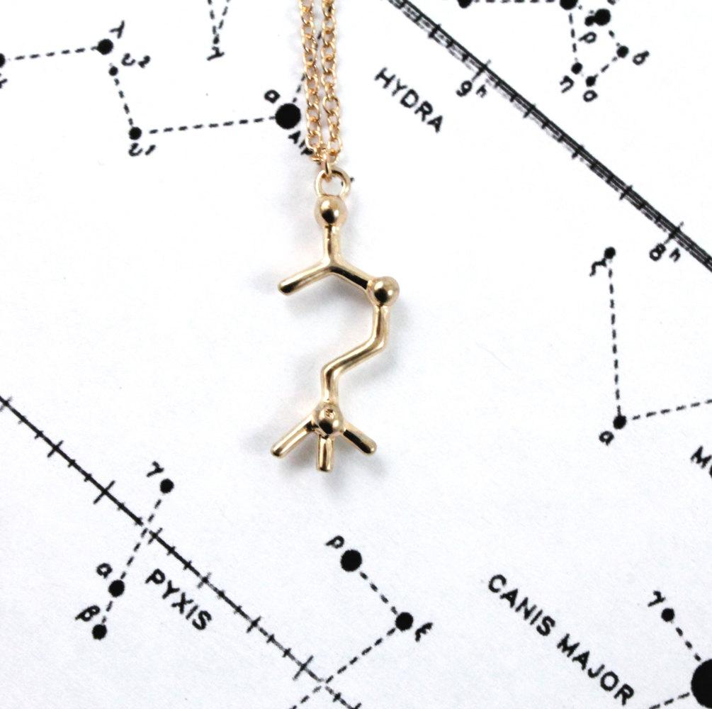 Acetylcholine Molecule Necklace