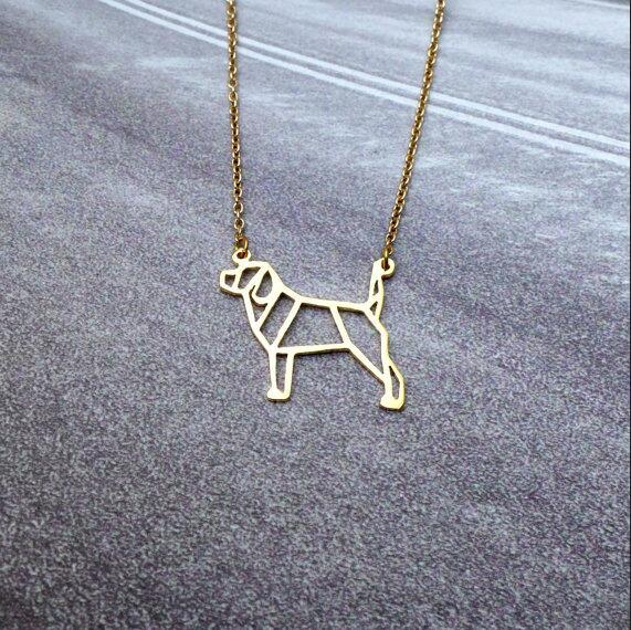 Geometric Beagle Necklace
