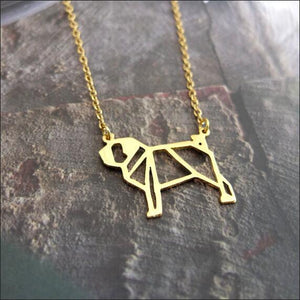 Geometric Pug Necklace