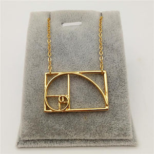 Golden Ratio Spiral Necklace