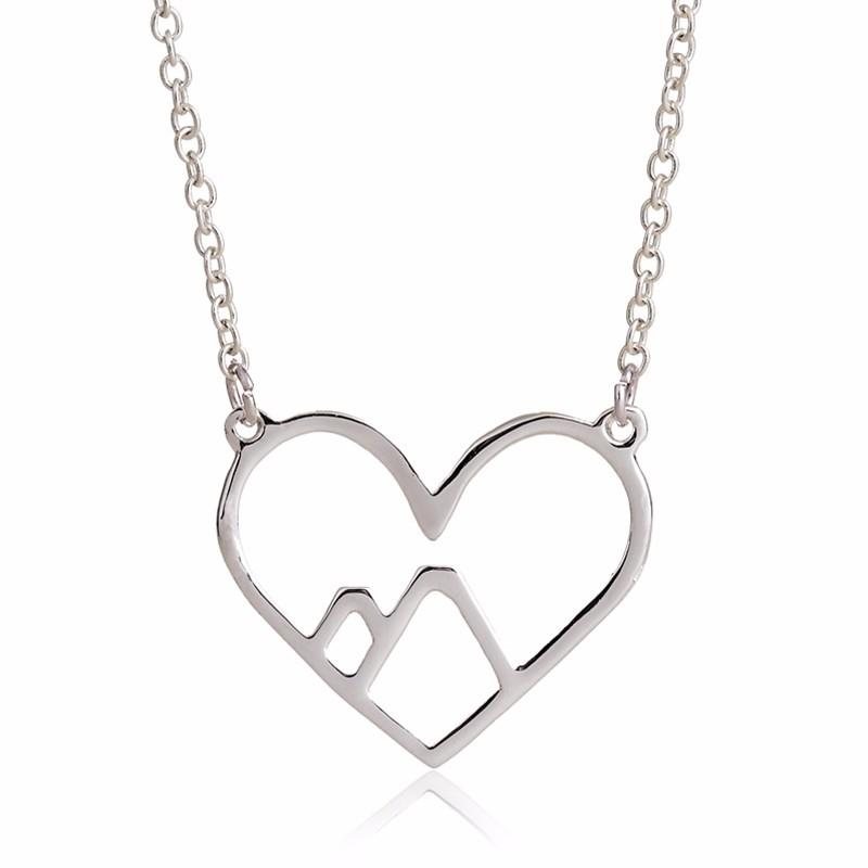 Mountain Heart Necklace