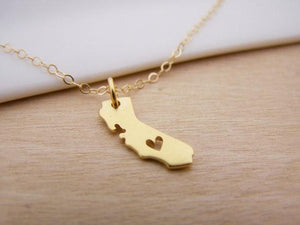 California Heart Necklace