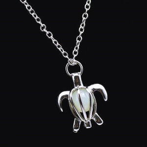Turtle Luminous Stone Necklace