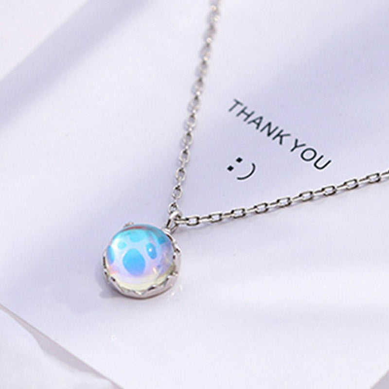 Ocean Wind Blue Gradient Crystal Necklace