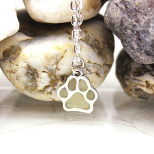 Dog Paw Luminous Necklace