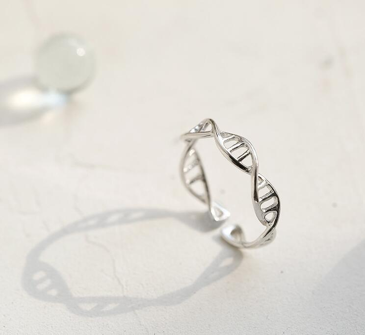 Sterling Silver DNA Ring