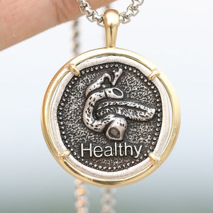 Pancreas Necklace Anatomy Pendant Healthy Diabetic Medical Alert Jewelry A290