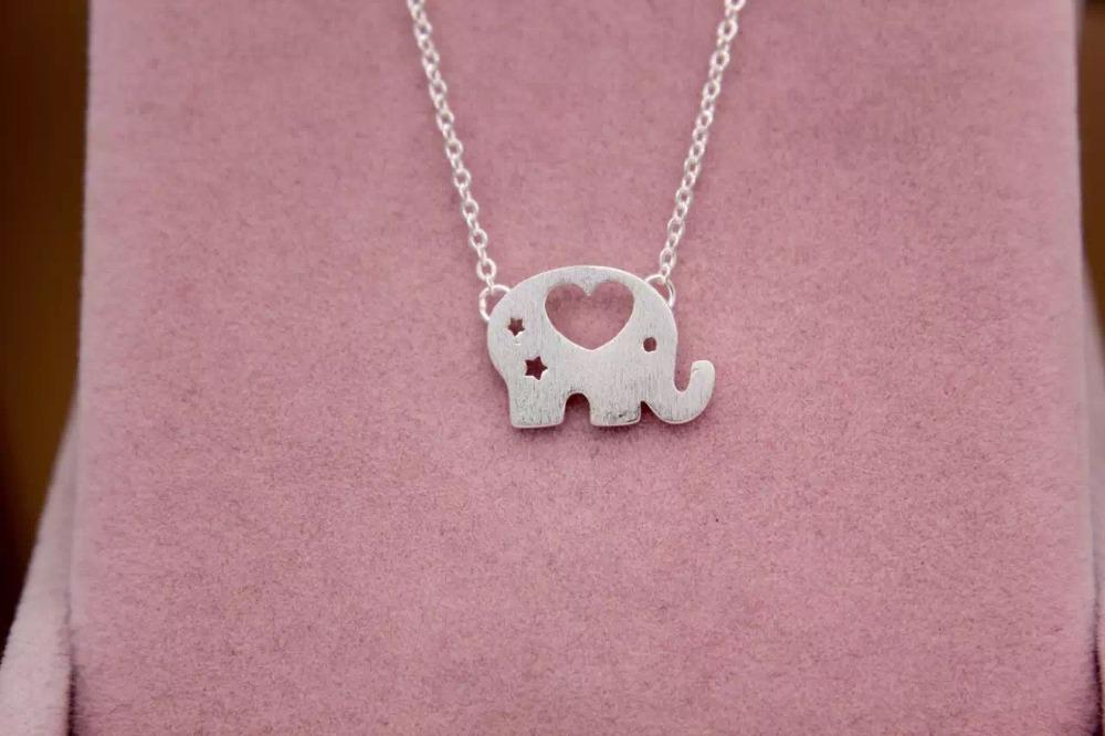 925 Sterling Silver Elephant Heart Necklace