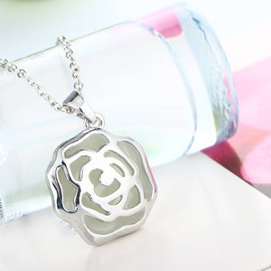 Glowing Rose Necklace