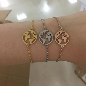 """The World"" Travel Bracelet"