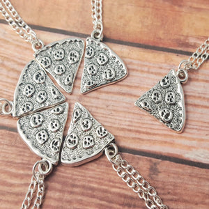 Pizza Slice Friendship Necklace Set