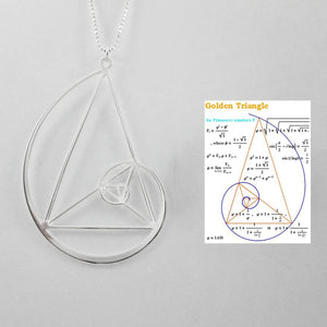 Fibonacci Golden Triangle Necklace