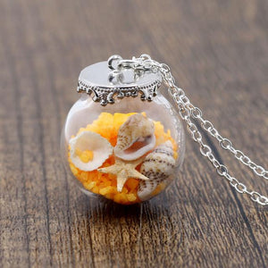 Ocean In a Bottle Necklace