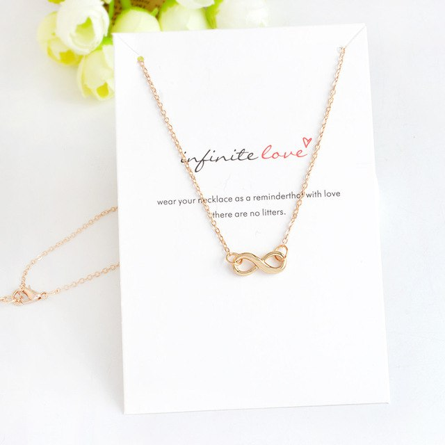 Anchor Infinity Love Wishing Star Mount Cylindrical Pendant Necklace Gold Silver Minimalist Jewelry Mini collar collier