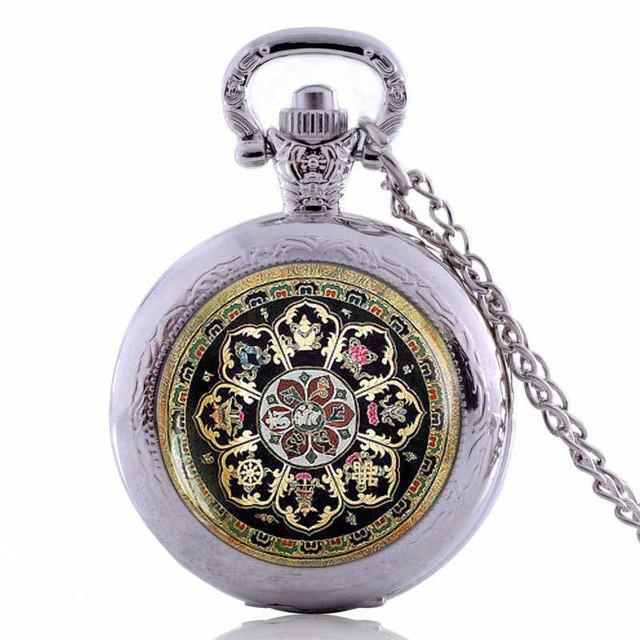 Mandala Pocket Watch Necklace