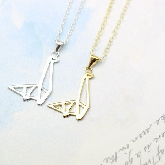 Origami Dinosaur Necklace