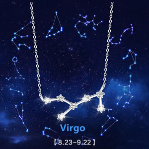 Sterling Silver Zodiac Sign Necklace
