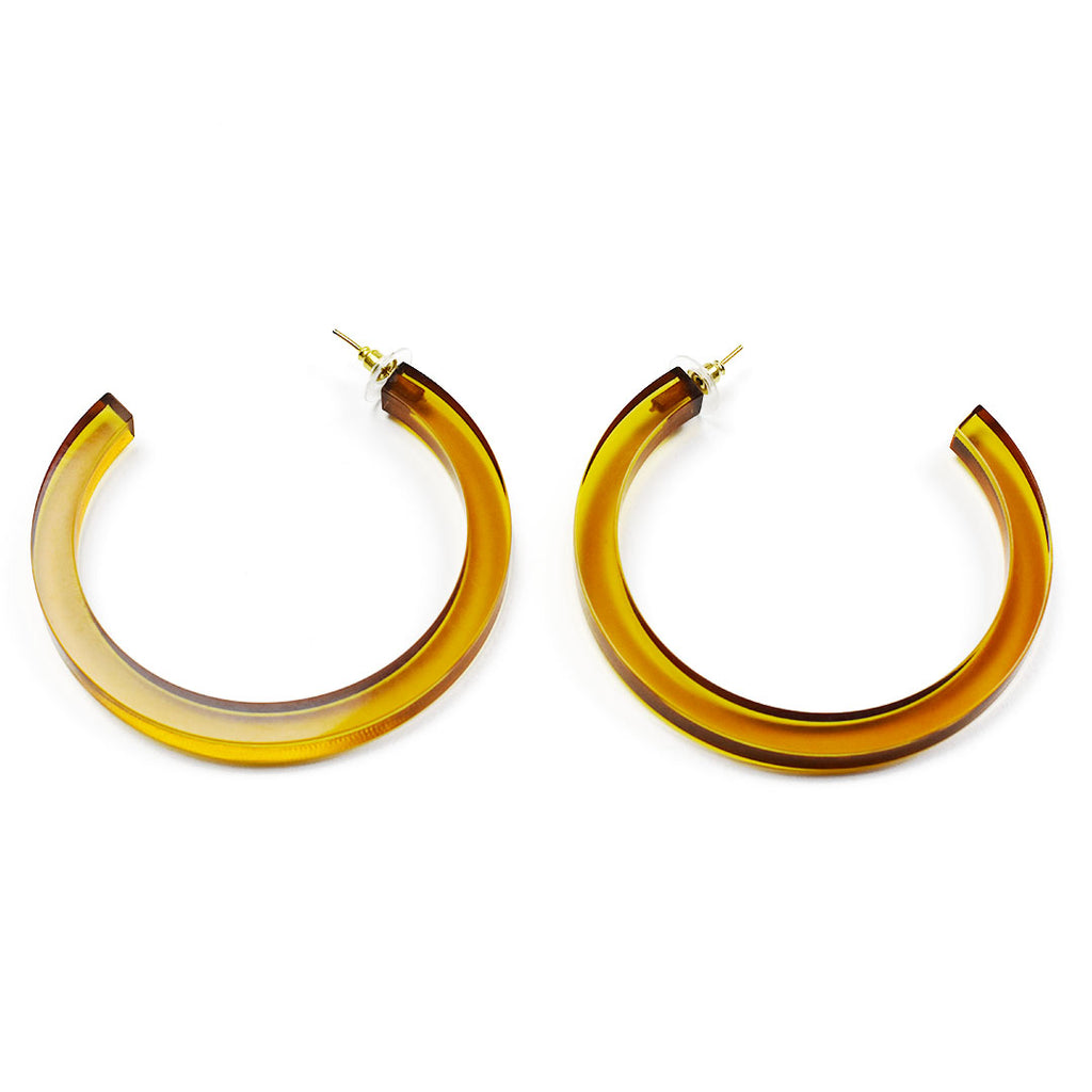 Lucite Hoop Earrings