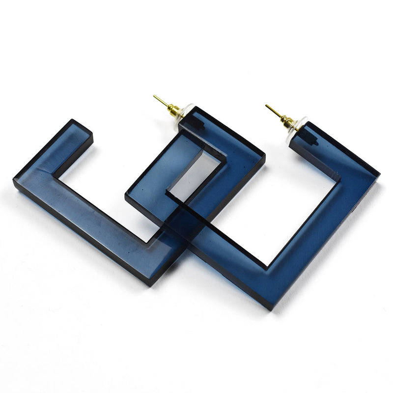 Square Lucite Hoops