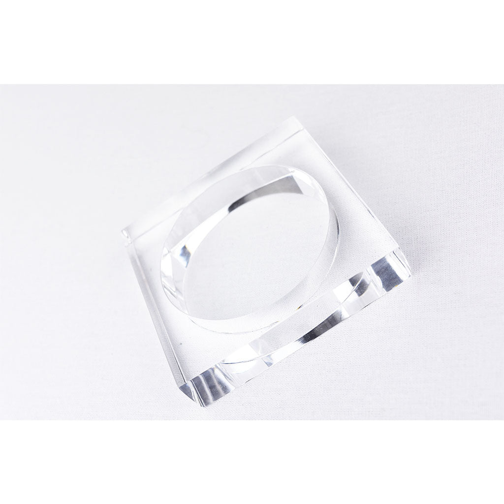 Lucite Square Bangle