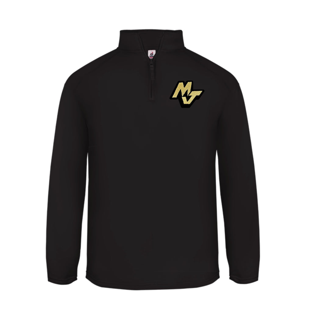 Performance Fleece Quarter-Zip Pullover- BLACK