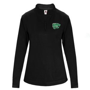 LADIES Performance Fleece Quarter-Zip Pullover- BLACK