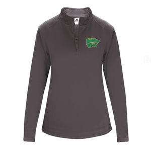 LADIES Performance Fleece Quarter-Zip Pullover- GRAPHITE