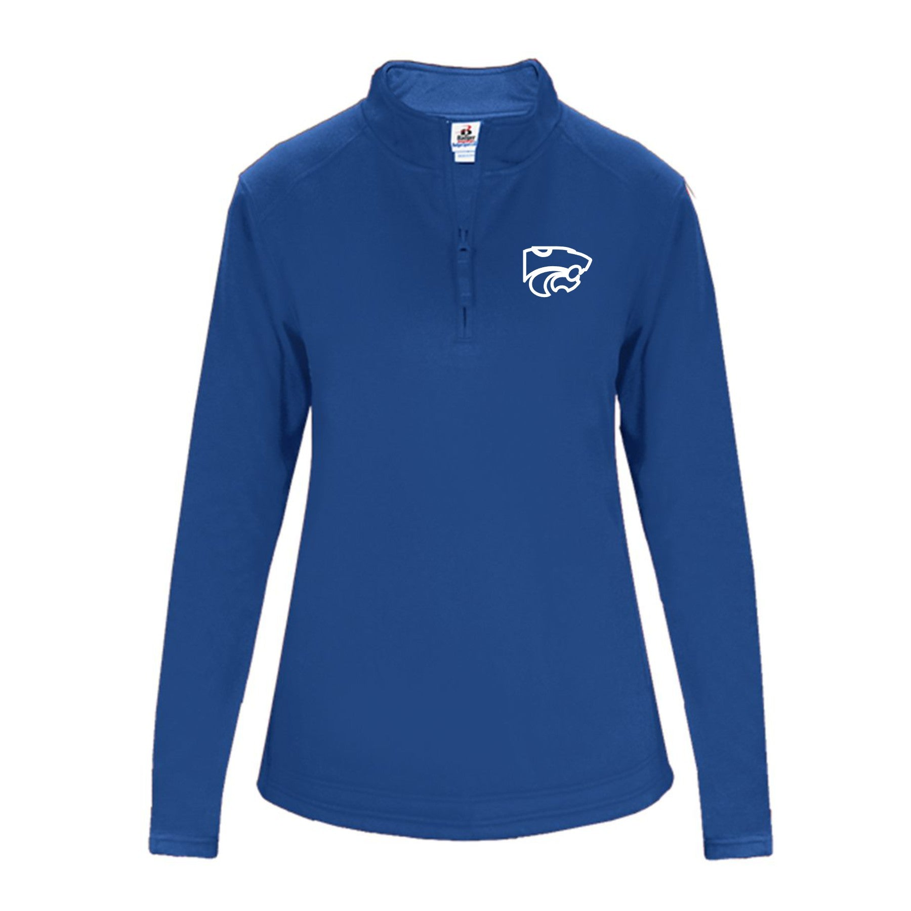 LADIES Performance Fleece Quarter-Zip Pullover- ROYAL WILDCAT