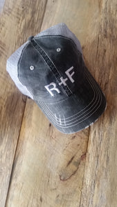 R+F Distressed Trucker Hat