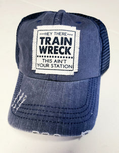 Train Wreck Distressed Trucker
