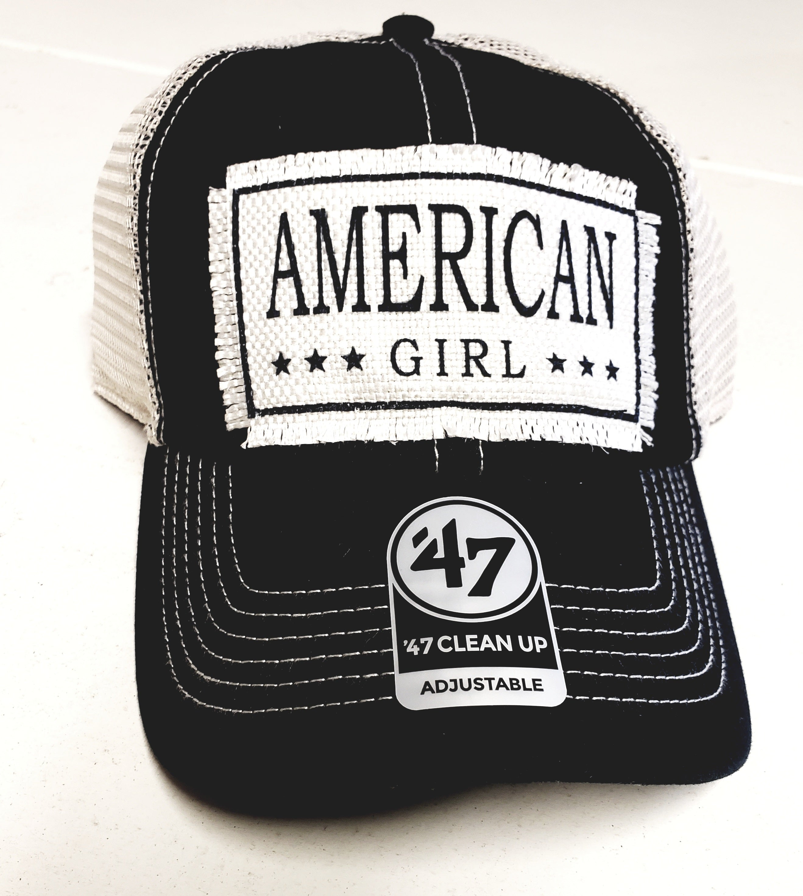 American Girl Distressed Trucker