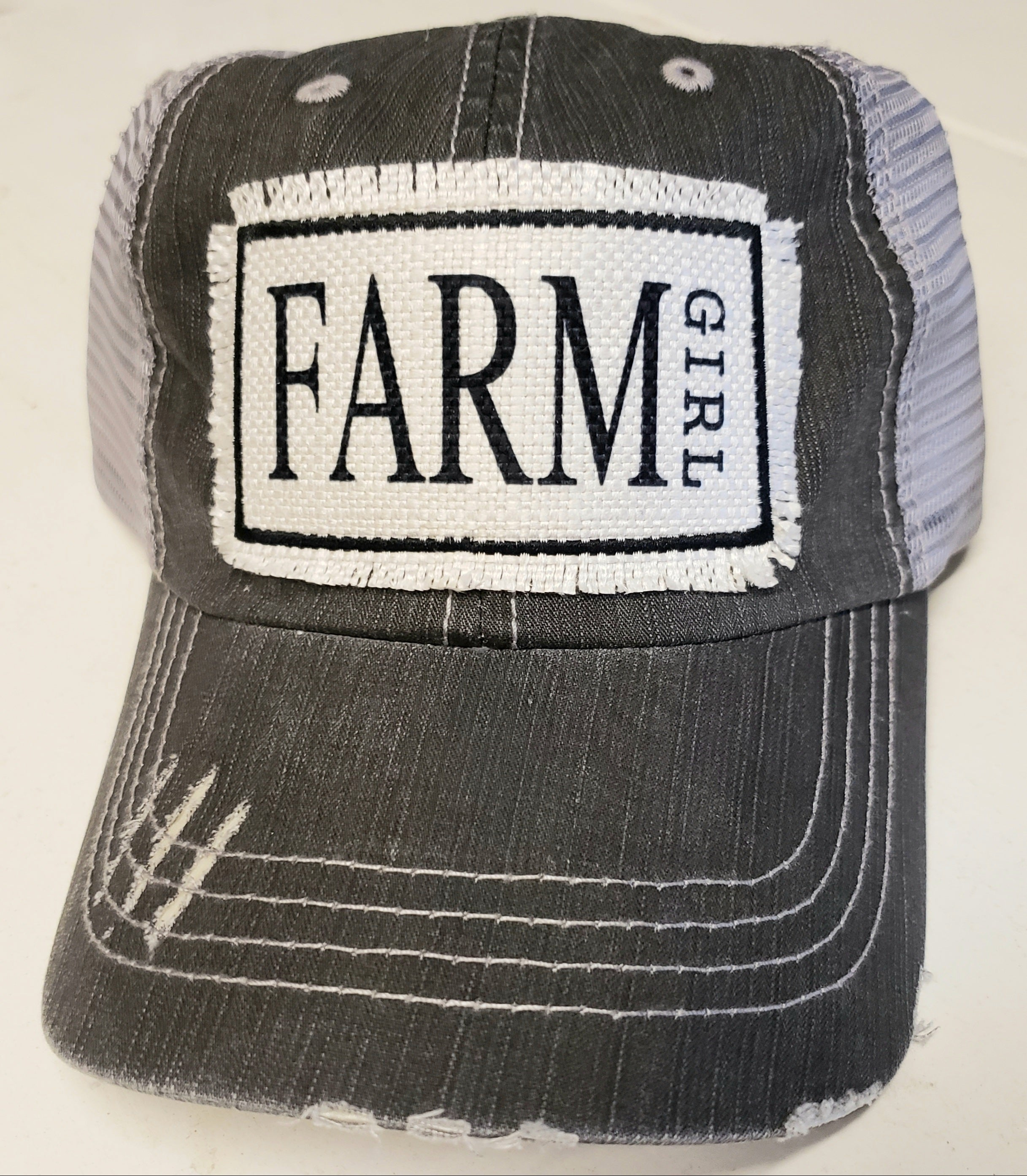 Farm Girl Distressed Trucker