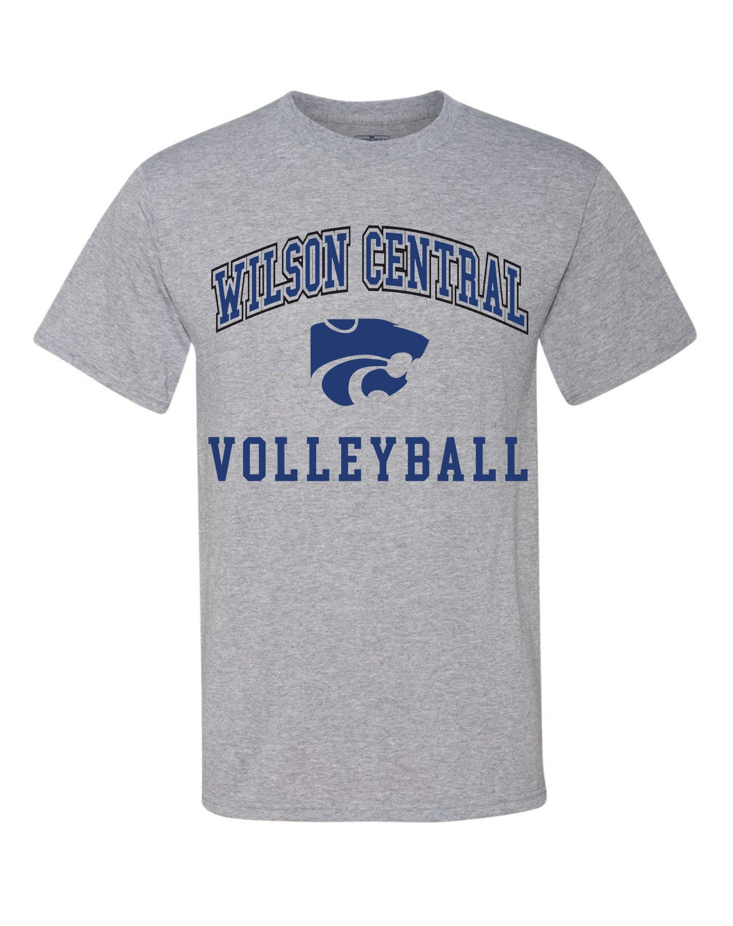 Wilson Central Volleyball - Grey Short Sleeve