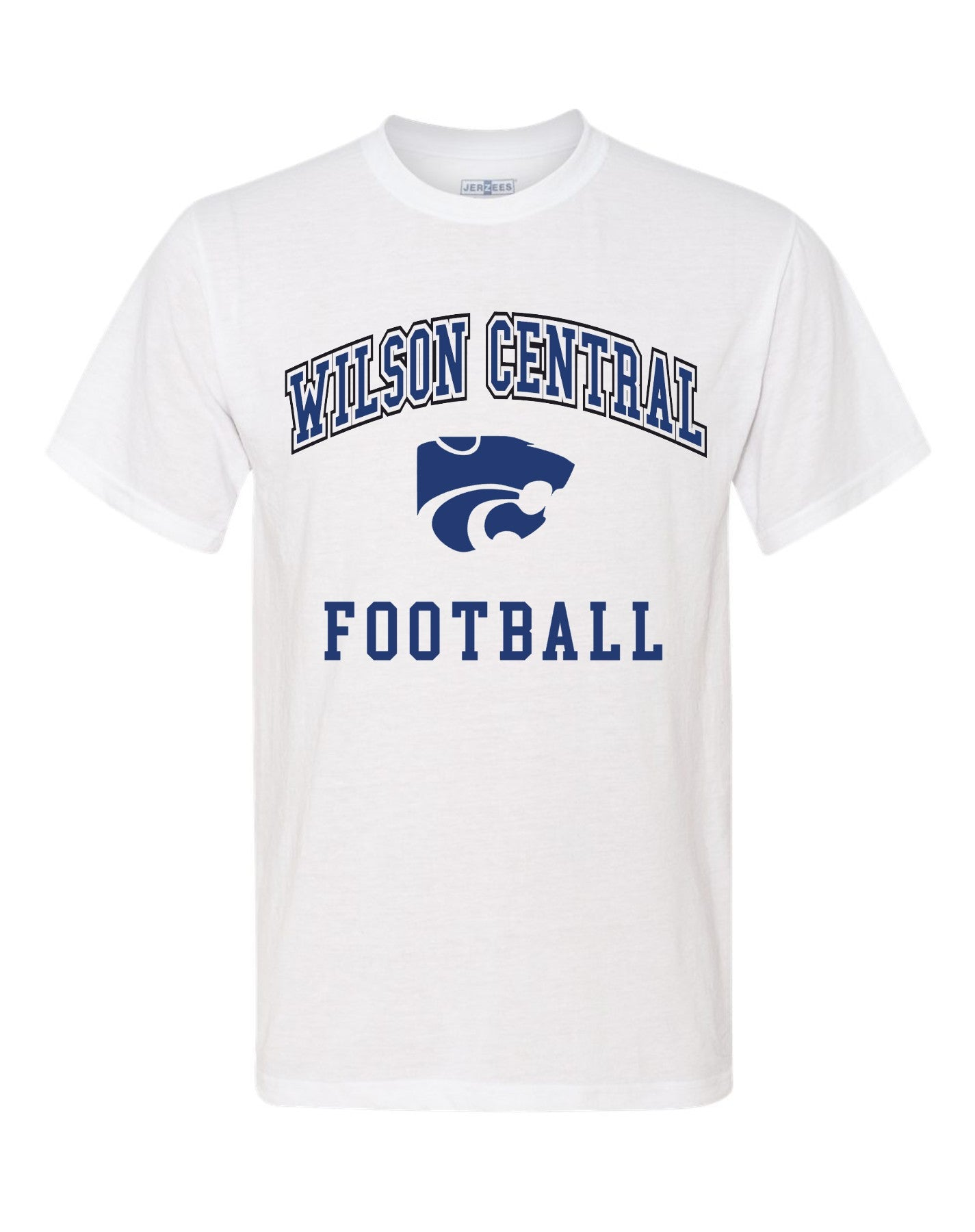 Wilson Central Football Team - White Short Sleeve