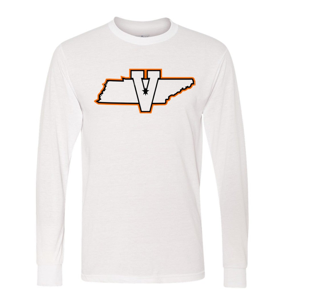 White Long Sleeve Tee - State