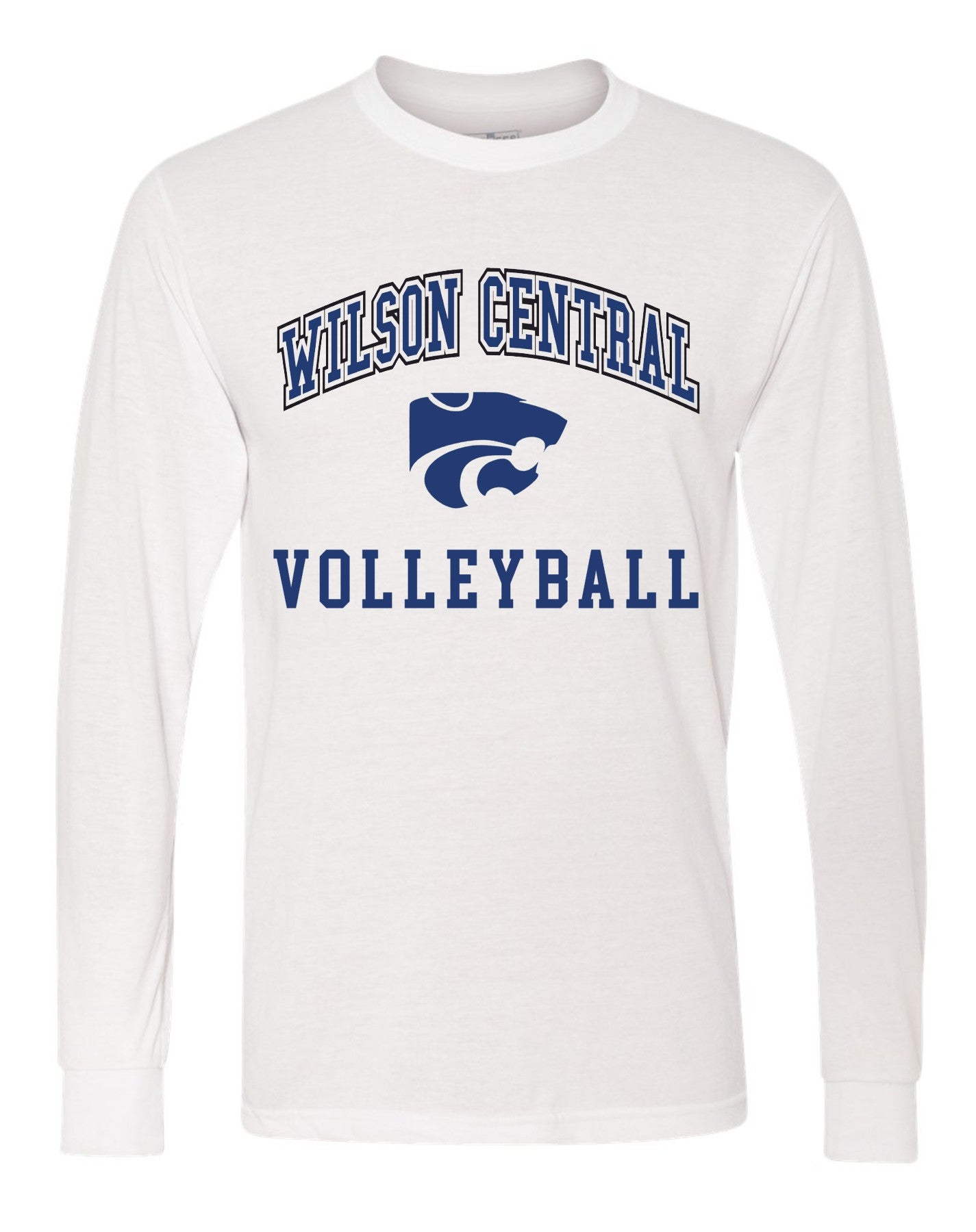 Wilson Central Volleyball - White Long Sleeve
