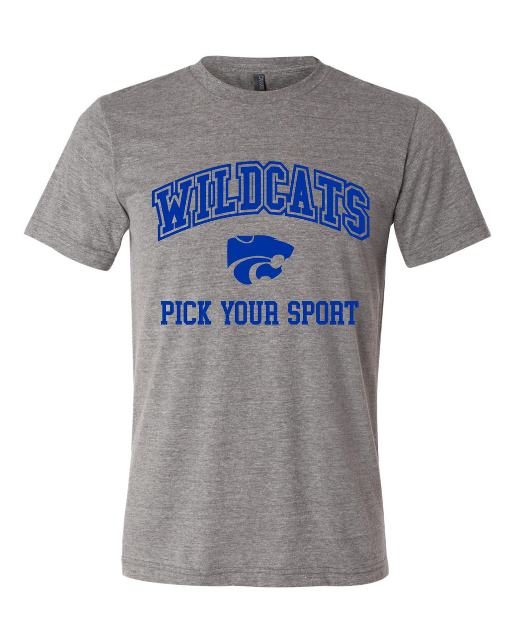Wildcats - Premium Tee Grey Short Sleeve