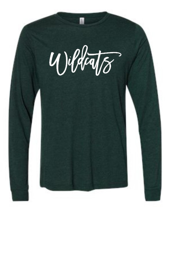 WILDCATS LONG SLEEVE (BELLA CANVAS)